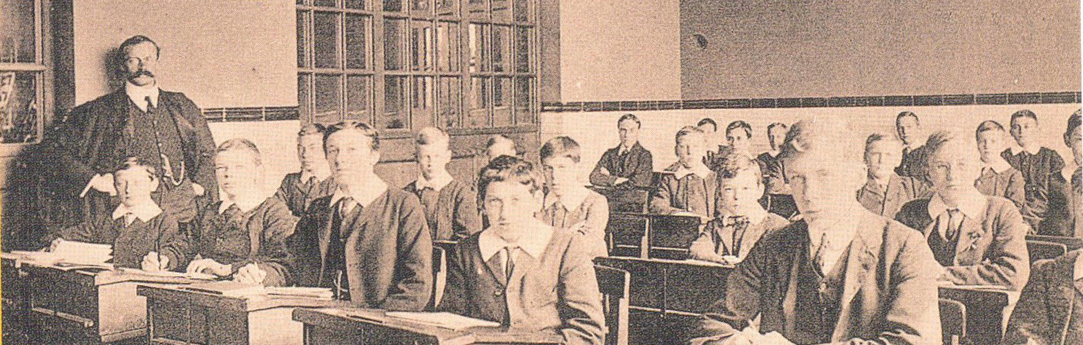 1900s Class with Headmaster Major E. Montague Jones