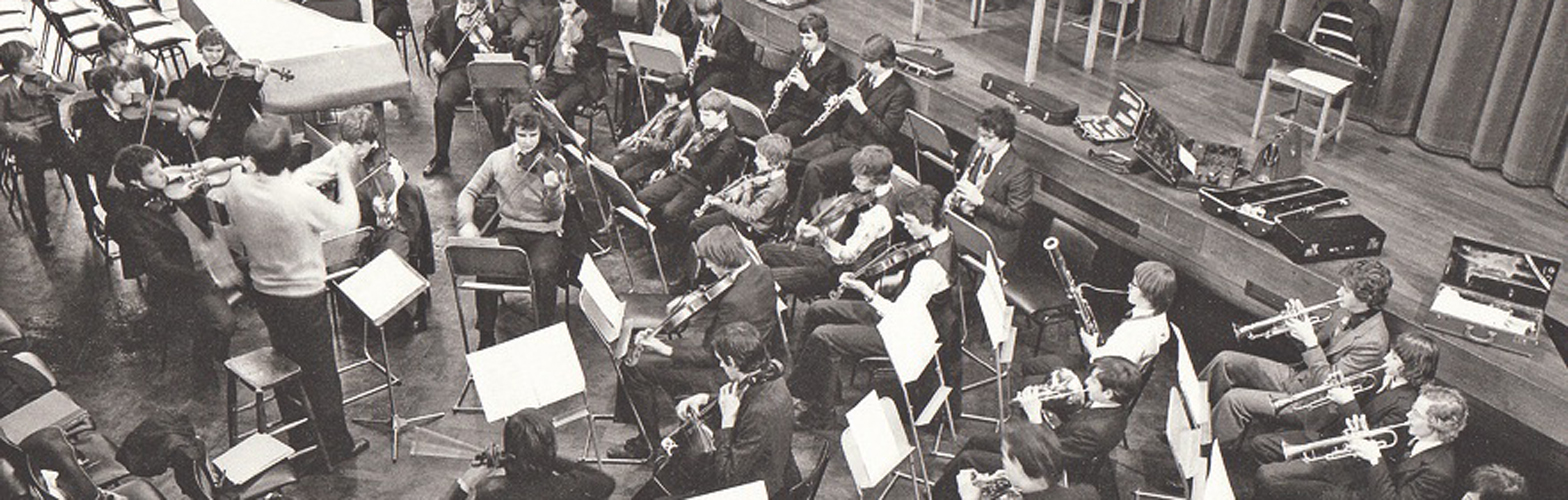 1970s Orchestra Rehearsal